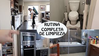 MI RUTINA DE LIMPIEZA DESDE MI TRABAJO!!!