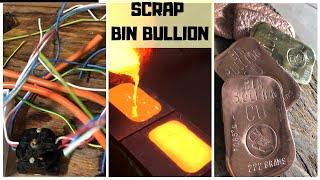 TRASH TO TREASURE - Bullion Bars from a bin - Scrap Bin Find  - Bullion Making- Copper Brass
