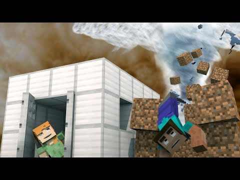 Minecraft | TORNADO BASE CHALLENGE - Tornado Destroys Base! (Realistic Tornado)