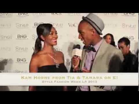 KAM HORNE from Tia & Tamara Interview at Style Fashion Week LA 2013