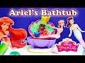 DISNEY PRINCESS Disney Ariel Flower Bath an Ariel Little Mermaid Video Toy Review