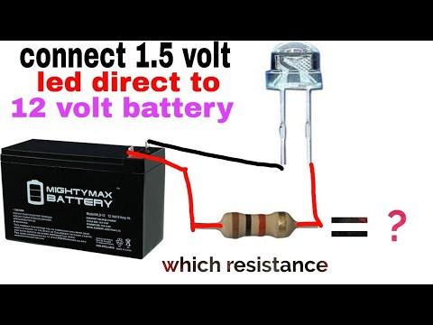 Connect Direct Led To 12 Volt Battery,1k Resistance Uses,resistance Colour Code,which  Resistance ?