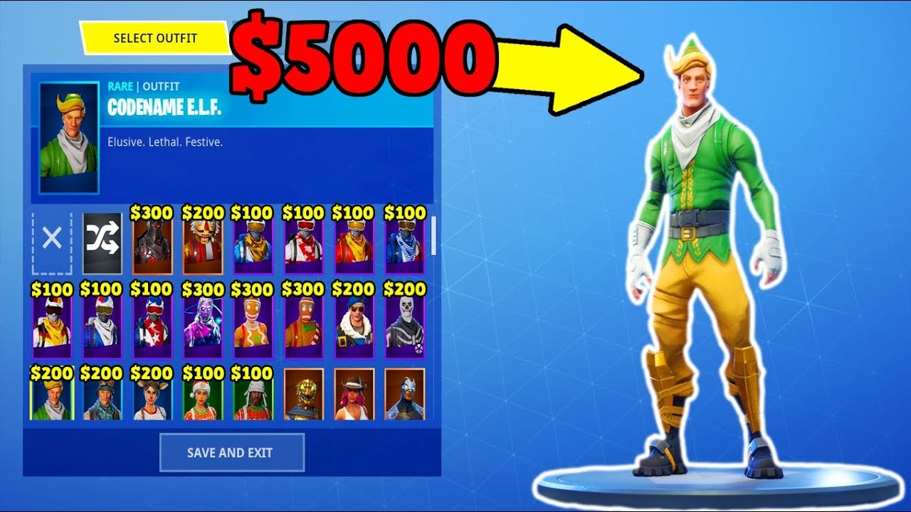 All Christmas Skins Fortnite.This Account Is Worth 5000 Every Christmas Skin Fortnite Stacked Accounts
