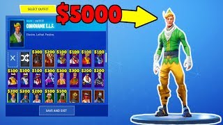 THIS ACCOUNT IS WORTH $5000?! (Every Christmas Skin!) | Fortnite Stacked Accounts!