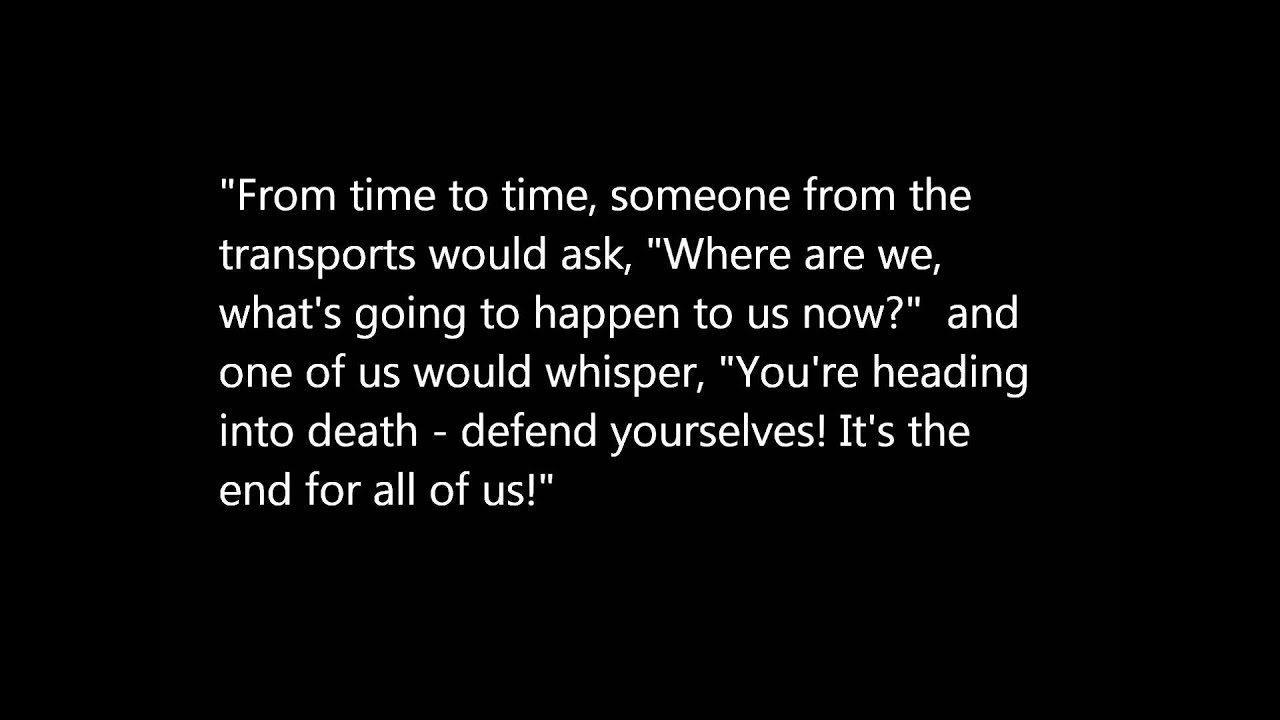 Holocaust Survivor Quotes Holocaust Quotes  Youtube