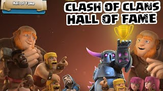 HALL OF FAME PLAYERS IN CLASH OF CLANS | UNIQUE PLAYERS EDITION 2 | HINDI