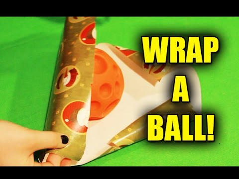How To Wrap A Ballround Object Gift Tutorial Christmas Birthdays Etc
