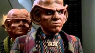 The female Ferengi, Quark and the Nagus