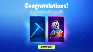 The NEW Fortnite CHRISTMAS SKIN is GLITCHED...