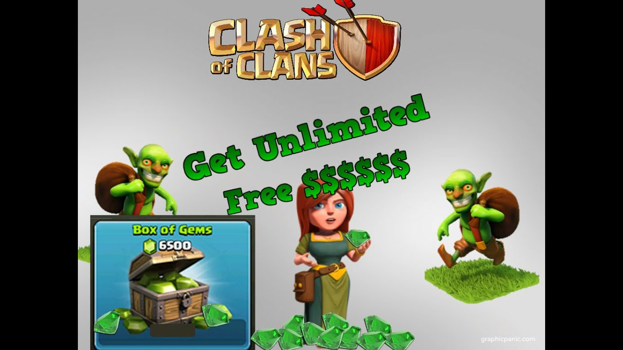 how to get free gems in clash of clans uk