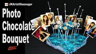 Photo Chocolate Bouquet | Valentine's Gift Idea | How to make | JK Arts 1163