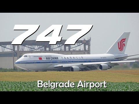 [50fps] Air CHINA Boeing 747  B-2472  Landing @ Belgrade Airport Nikola Tesla