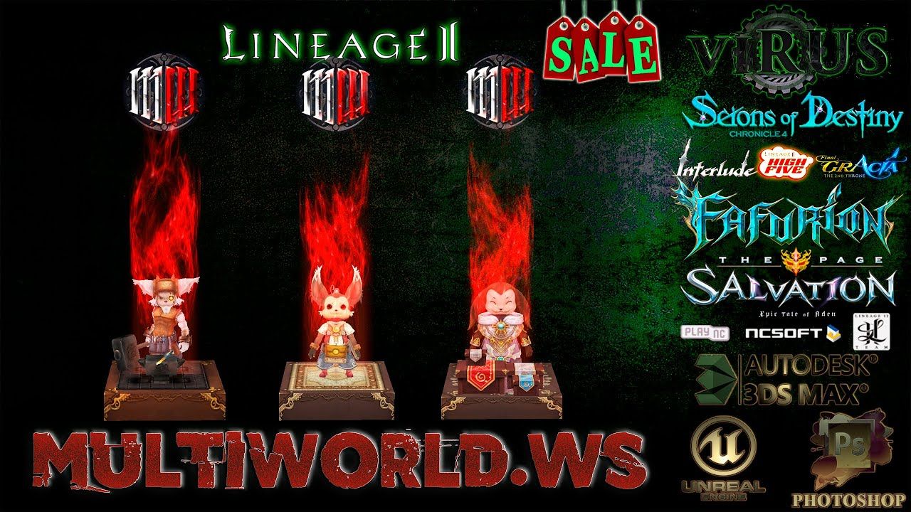 New NPCs with effects for the www.MultiWorld.Ws server. LINEAGE II ◄√i®uS►