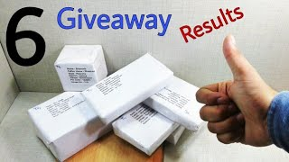 6 Giveaway Results Learn everyone, Giveaway result, 5 giveaway result +1, Electronic, Technical,