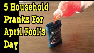 5 Silly Household Pranks For April Fool