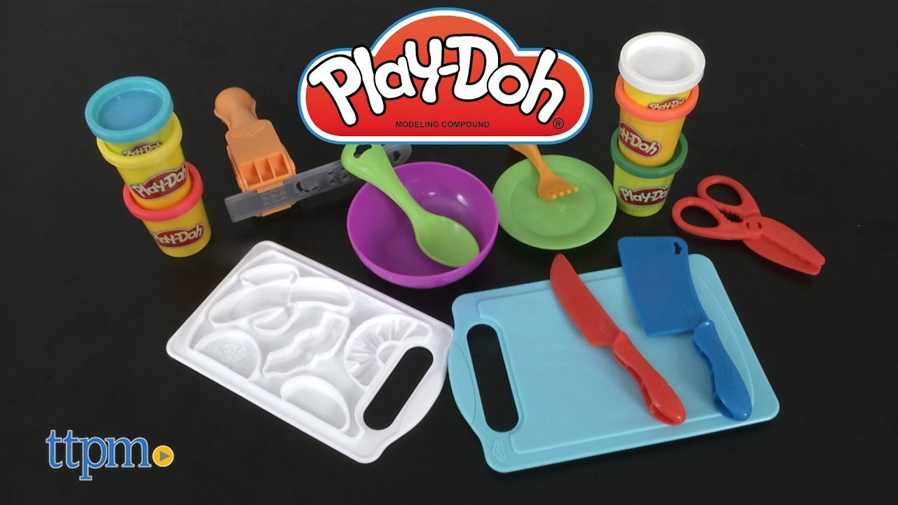 Play-Doh Kitchen Creations Shape \'n Slice from Hasbro - YouTube