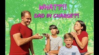 DAD CONTROLS the DAY!! Teens and MOM can't say NO for 24 HOURS!