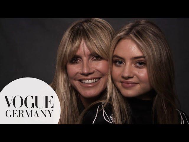 Heidi und Leni Klum\: Das allererste Mutter-Tochter-Interview   VOGUE Germany