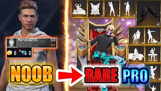 Free Fire new account to *PRO* PART 4 - look how *RARE* became😱🔥