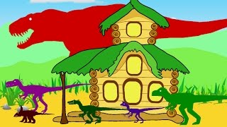 Tyrannosaurus Rex, Funny Dinosaurs and Teremok. Dinosaurs cartoons  for children