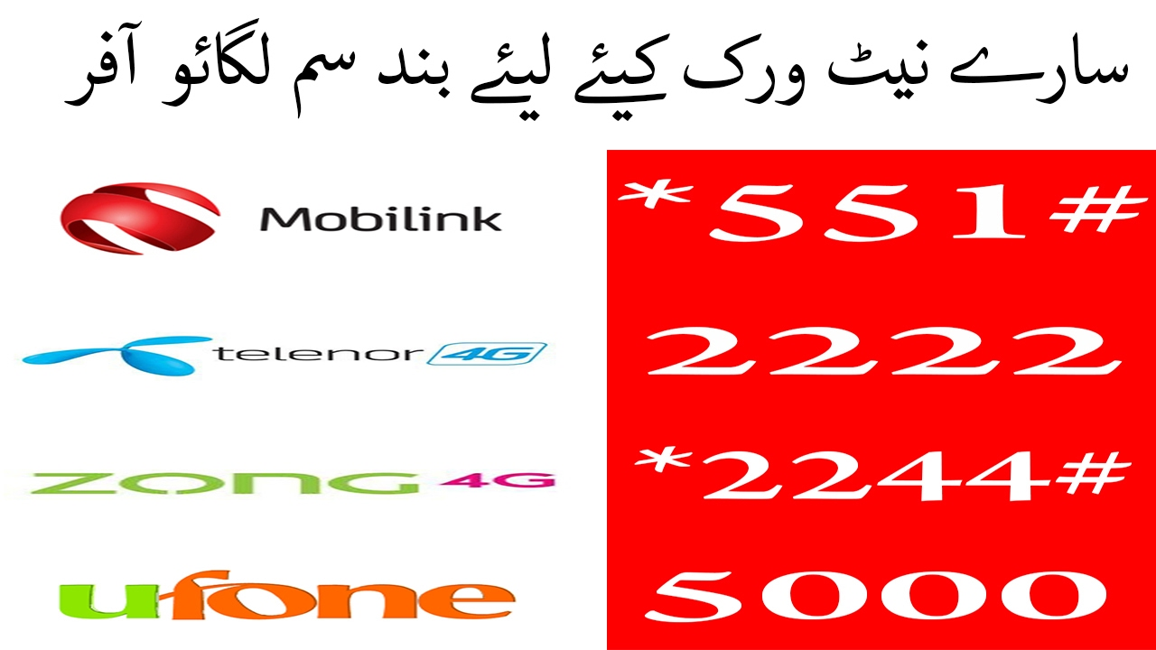 All Networks SIM Lagao Offer | Active your SIM Number enjoy Free Offers