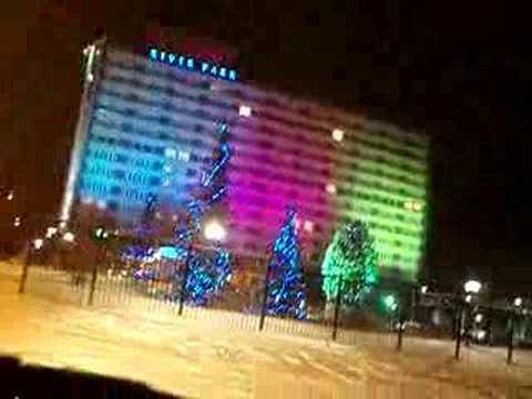 Novosibirsk.Winter 2008.Night.Cool car, music and lights