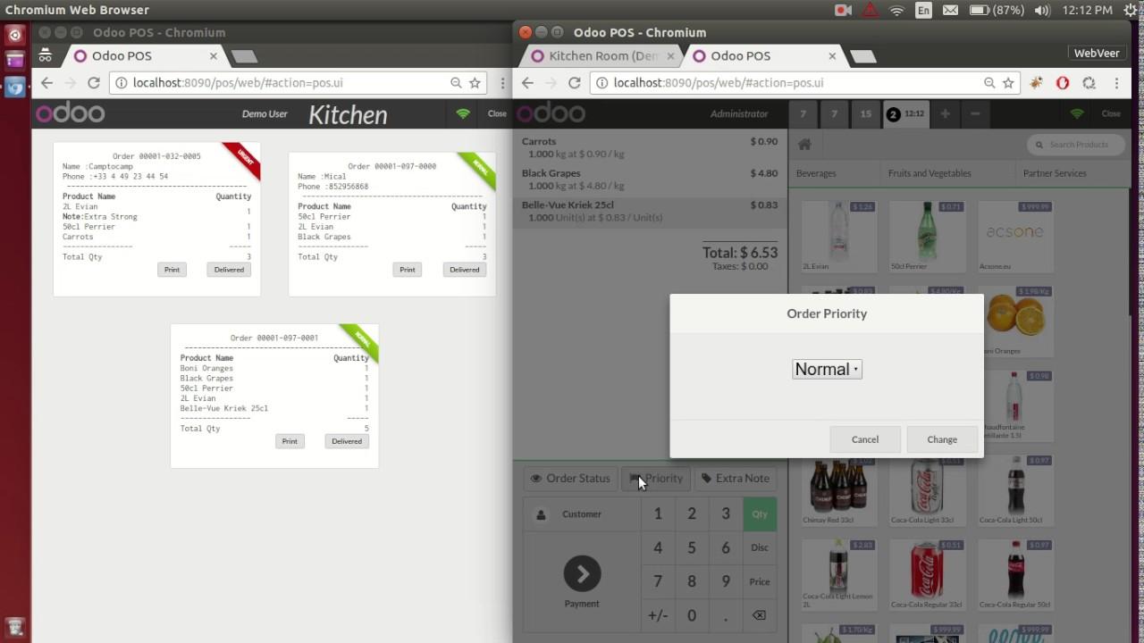 Odoo POS Advance Kitchen - YouTube