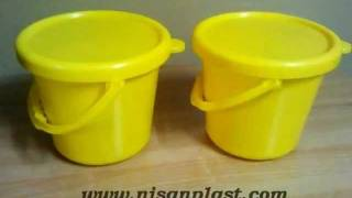 Two cavities plastic bucket mould testing