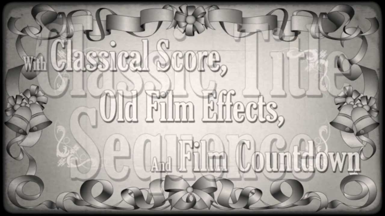 classic movie titles after effects template youtube. Black Bedroom Furniture Sets. Home Design Ideas