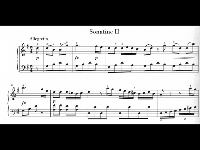 M.Clementi: Sonatina op.36 N° 2 - Primo Tempo : Allegretto. 1/3
