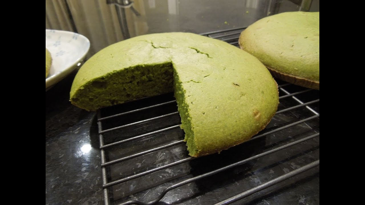 Japanese Sponge Cake Recipe Youtube: Easy Japanese Green Tea Matcha Cake Recipe