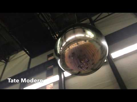 Turbine Hall Tate Modern Superflex One Two Three Swing !  Silver Ball Snores then Stops !