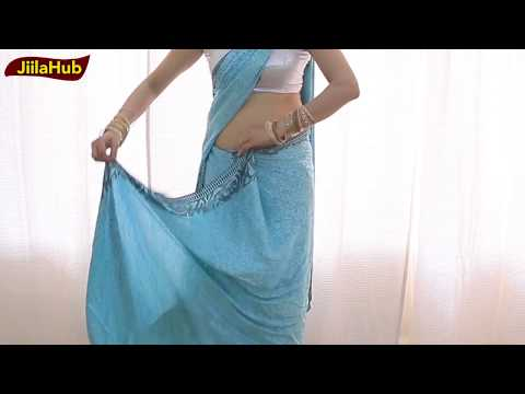 How to Wear Indian Saree blouse | learn Bollywood Saree(sari) Drape in just few mints