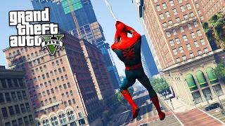 SPIDERMAN MOD w/ WEB SWINGING!! (GTA 5 Mods)