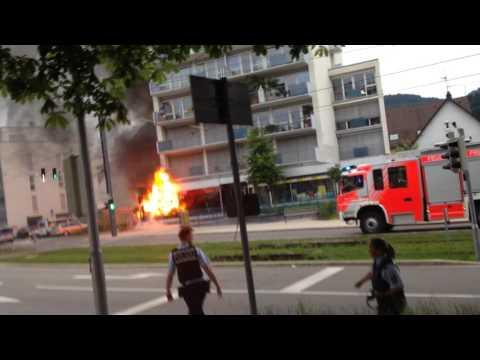 Fire in Zähringen (Freiburg, Germany)  Part 1