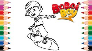 How to Draw BoBoiBoy Galaxy Coloring Pages Learn Colors Drawing BoBoiBoy for Kids and Toddlers