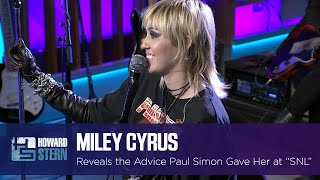 Miley Cyrus Reveals the Advice She Got From Paul Simon