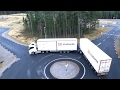 Long truck combination with Active Dolly Steering demonstration