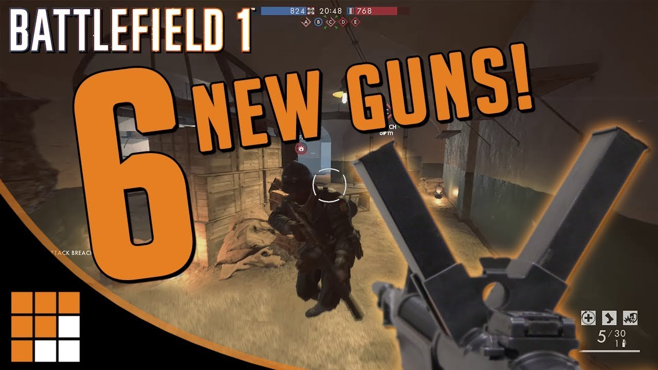 6 New Weapons Datamined on the Battlefield 1 CTE: Burton LMR, Thompson + MORE!