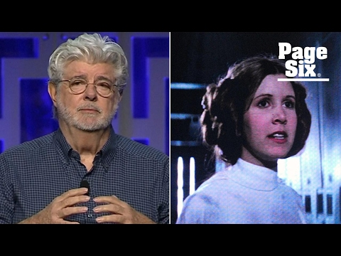 George Lucas gets emotional about the late, great Carrie Fisher