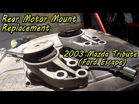 rear motor mount replacement  mazda tribute ford escape youtube