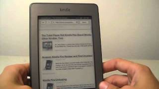 Web Browsing on the Kindle Touch (Kindle Touch Review)
