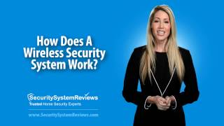 How does a wireless security system work?