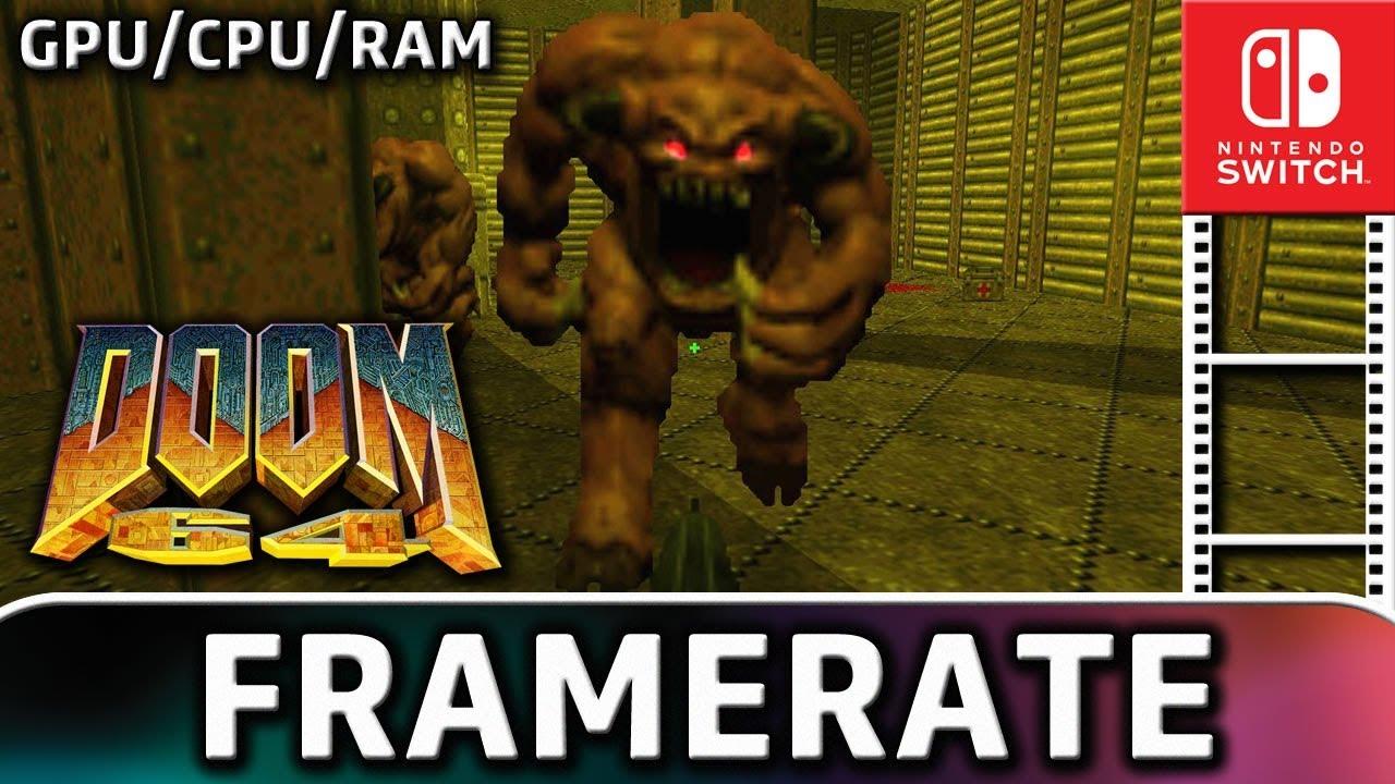 Doom 64 | Docked & Handheld | Frame Rate & GPU/CPU/RAM Clock on Nintendo Switch