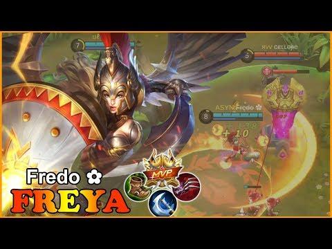illustrious fighter 'Gladiator' [F̶r̶e̶d̶o ✿] mobile legends freya gameplay