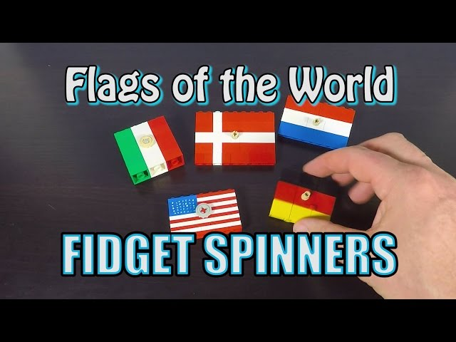 LEGO Fidget Spinner Flags of the World - DIY Fidget Spinners