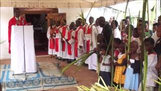 Celebration du dimanche des rameaux au Mont Sion Gikungu