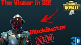 Fortnite Battle Royale | BlockBuster Skin Leaked With 3D PreView | With BackBling !!