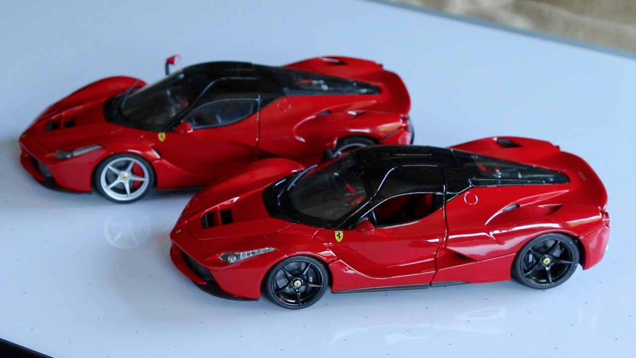 bburago vs hot wheels elite 1 18 scale ferrari laferrari. Black Bedroom Furniture Sets. Home Design Ideas