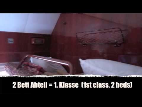 Transsibirische Eisenbahn Zug Nr 4 1 Klasse 2 Betten Abteil